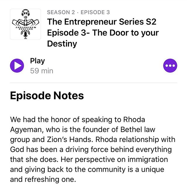 Ahnansiem podcast presents : The Entrepreneur Series S2 Episode 3- The Door to your Destiny available on any podcast platform.⠀ ⠀ #podcast #entrepreneur #community #givingback #bethellawgroup #ahnansi #worcesterma #ghana #zionshands #nonprofit