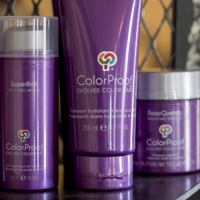 Colorproof products sold at The James hair salon and clothing boutique in grand rapids mi