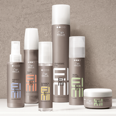 Wella EIMI products sold at The James hair salon and clothing boutique in grand rapids mi