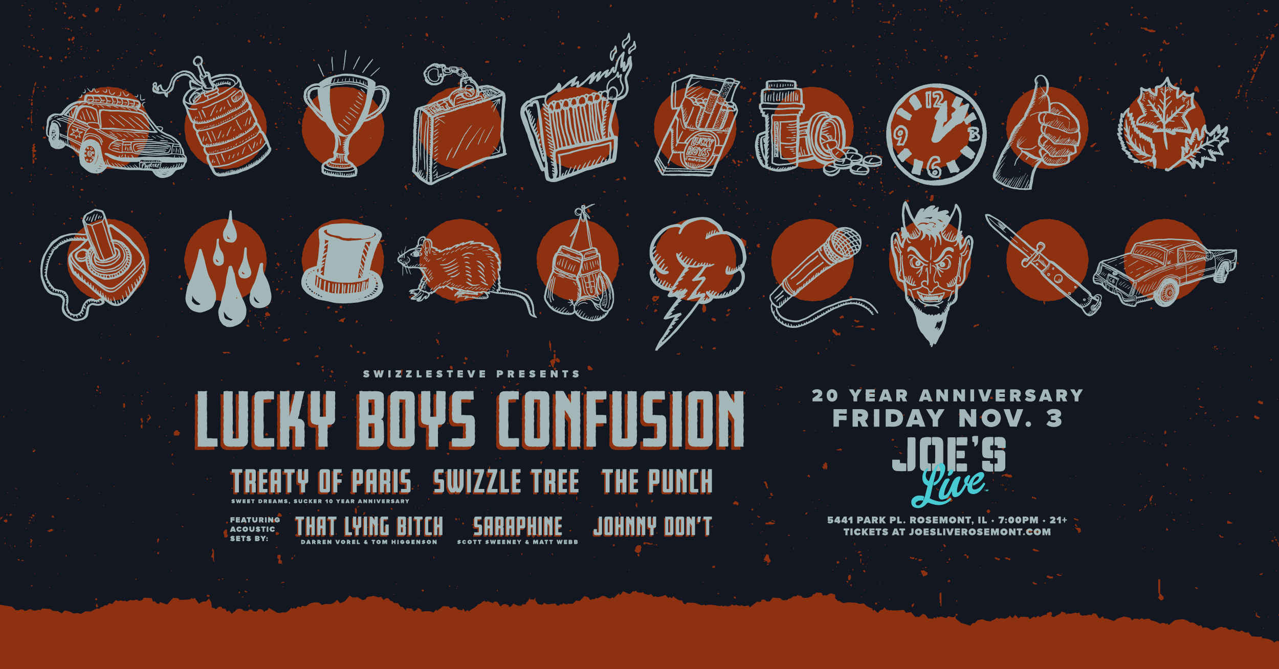 Lucky Boys Confusion 20 Year Anniversary Nov 3 2017 Joes Live Rosemont