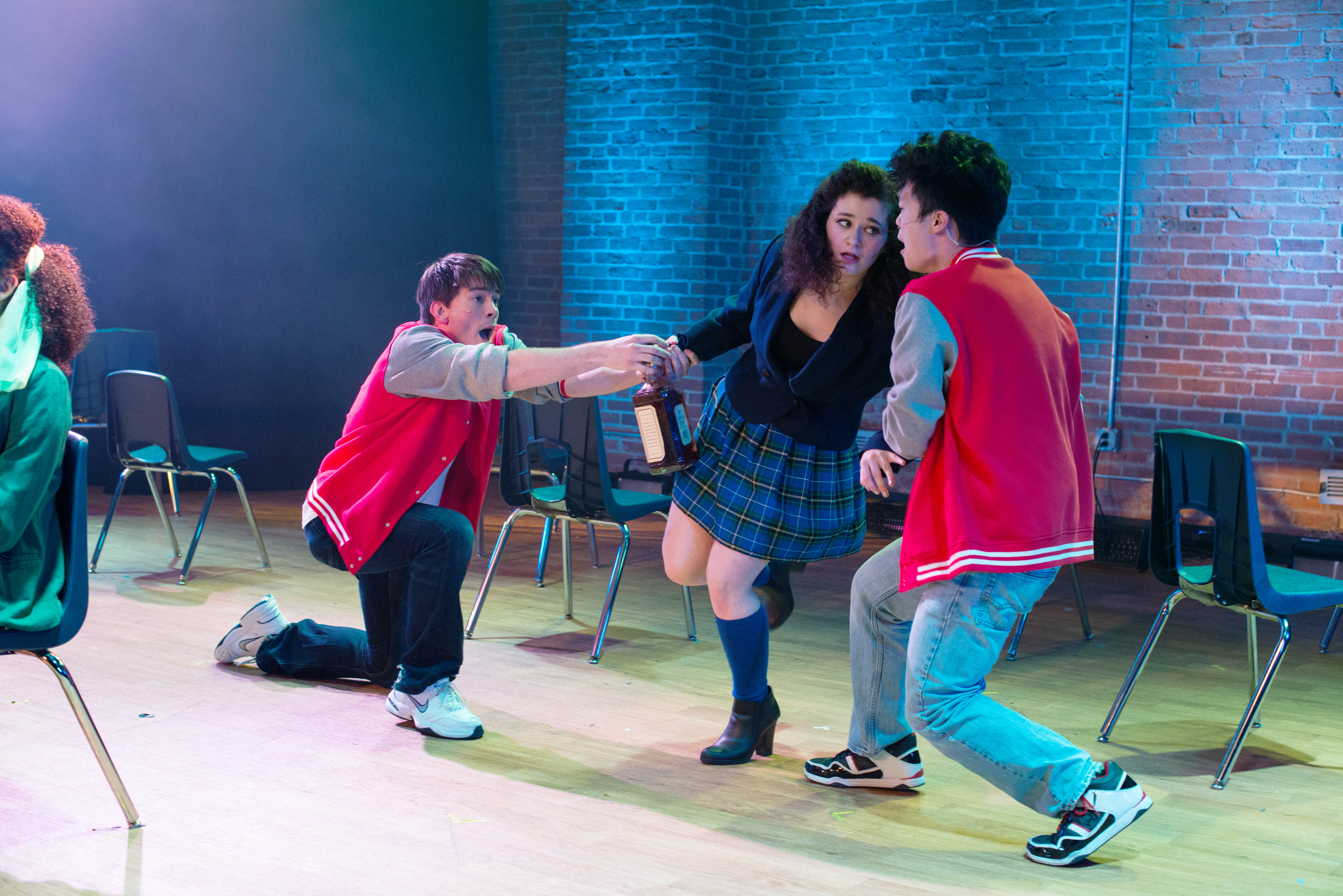 Heathers  || Kurt Kelley  with Erin Krebs and James Lee at the Off Broadway Theatre