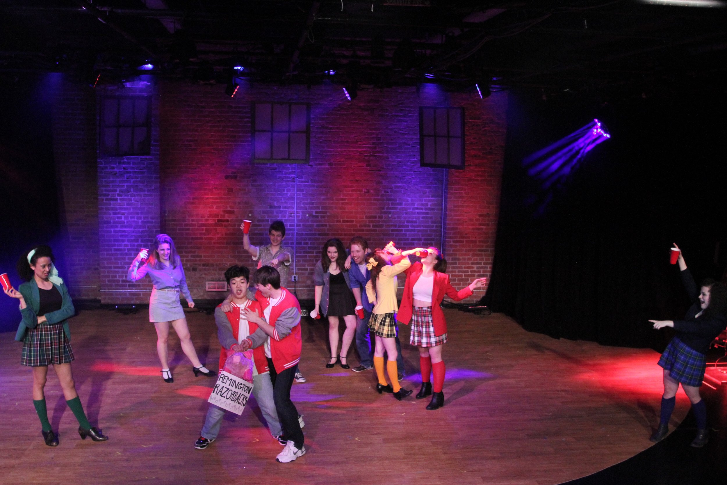 Heathers    Kurt Kelley  with Heathers Ensemble at the Off Broadway Theatre