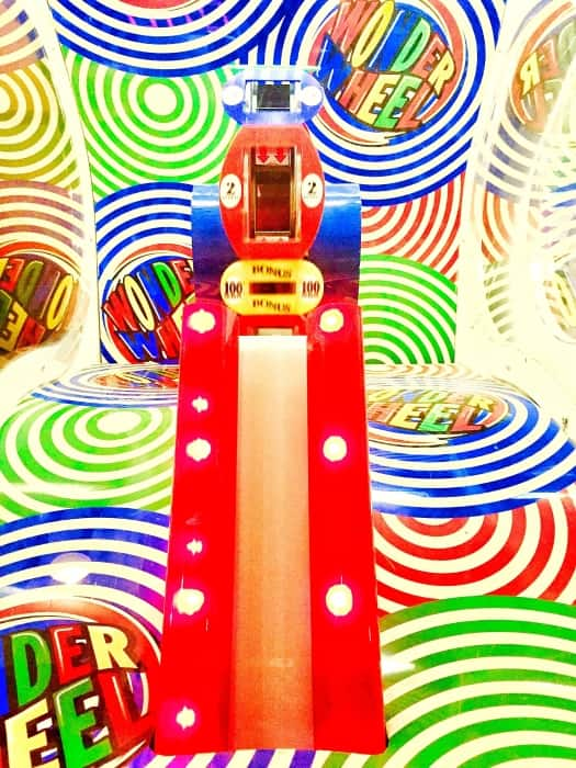 The indoor arcade is an explosion of bright lights and colors.