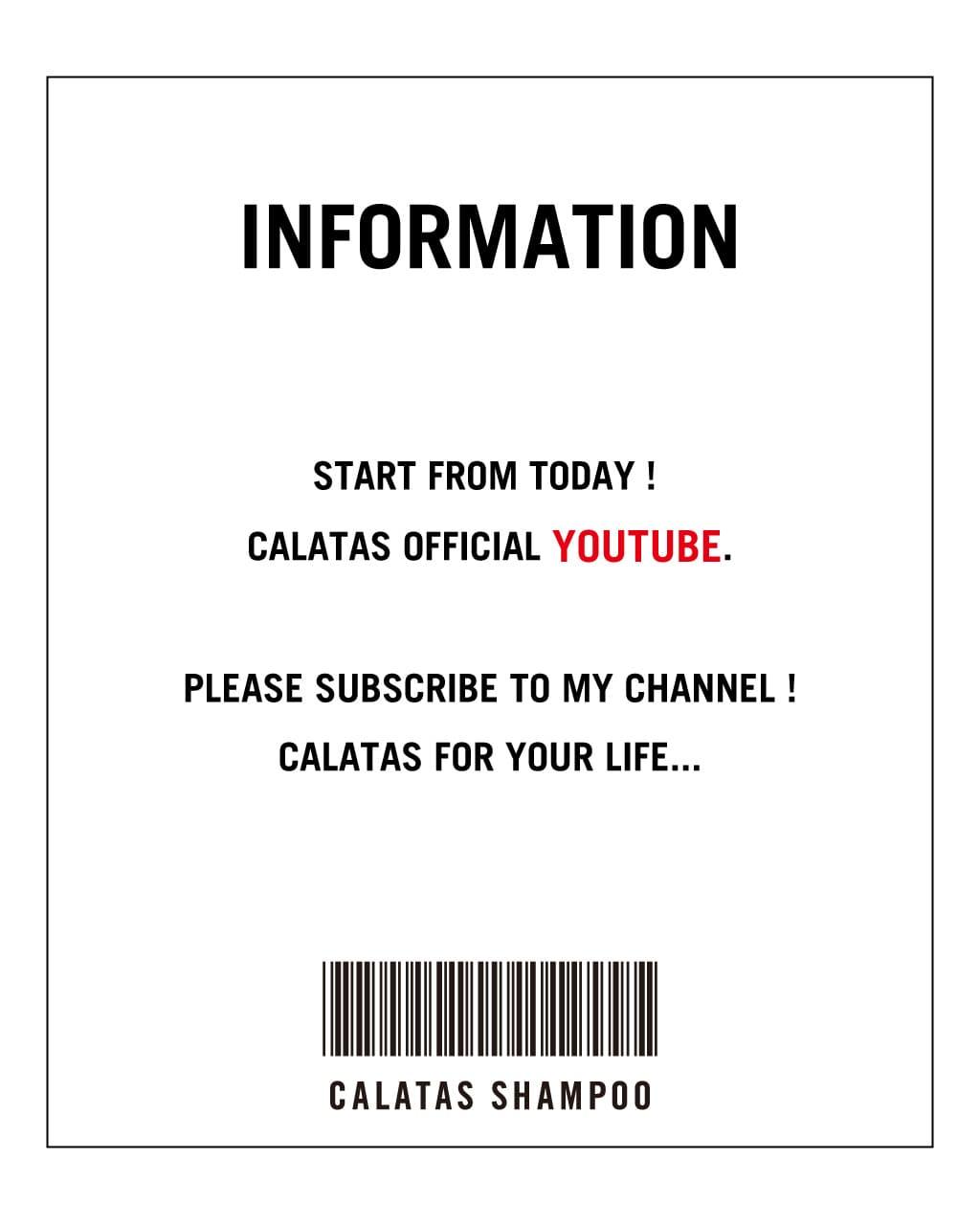 本日より、Youtubeにてカラタス公式チャンネルを公開いたします。  「 LIFE WITH CALATAS 」をテーマに更新。  TOPページよりアクセス出来ます。  ぜひ、ご視聴くださいませ。