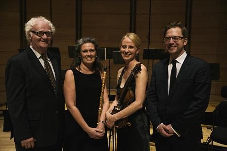 Richard Gill, Nicole van Bruggen, Rachael Beesley and Benjamin Bayl. Photo © Nick Gilbert