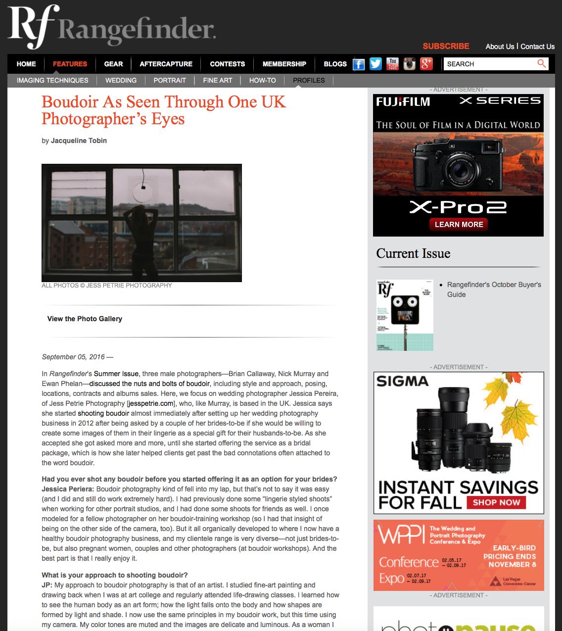Rangefinder Magazine interview