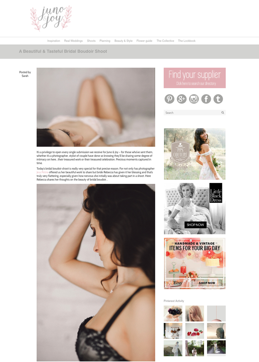 Juno & Joy Blog Feature