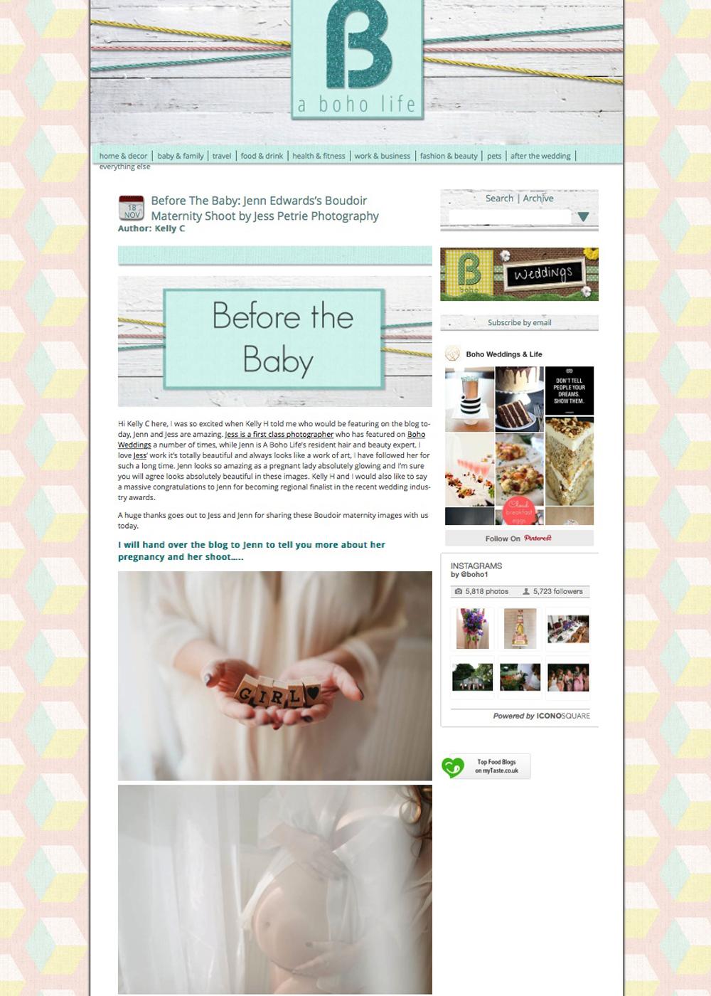 A Boho Life maternity boudoir feature