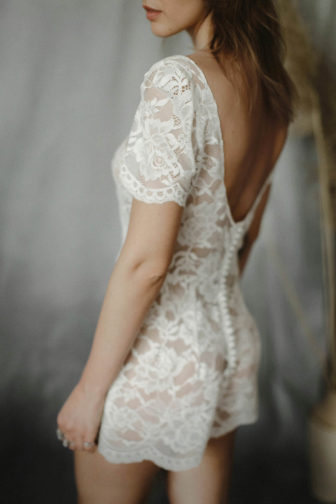 Beautifully Undressed Boudoir Lingerie Ivory Lace Playsuit