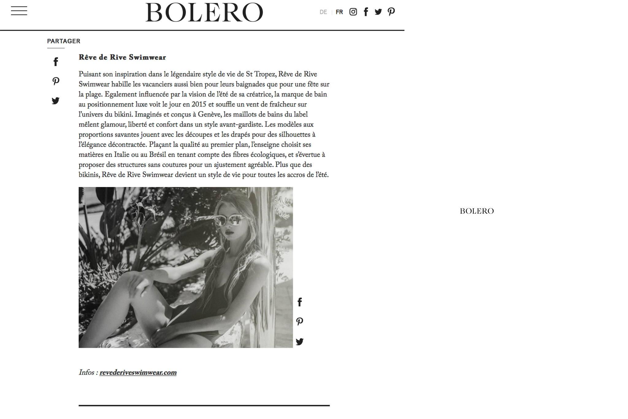 Bolero Magazine 2018