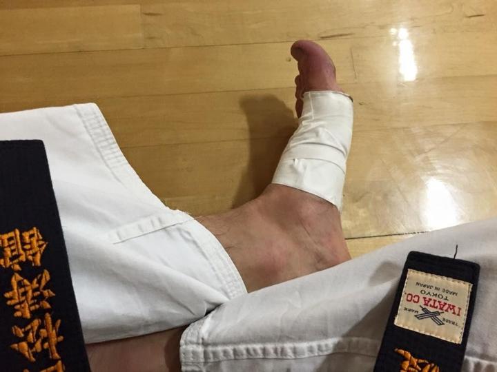 Ducktape - a karateka's best friend. [Shotokan Karate of America -CalTech special training 2016]