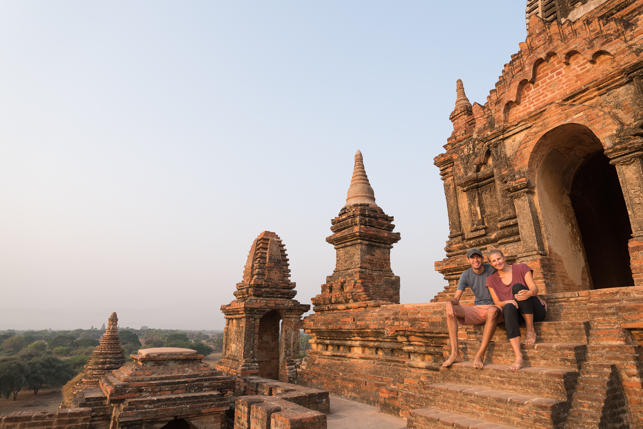 Andrew and Marcy in Bagan, Myanmar.