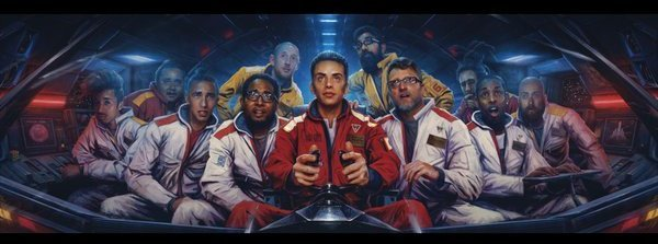The gatefold of Logic's  The Incredible True Story , painted by Sam Spratt.   Courtesy of Def Jam Records