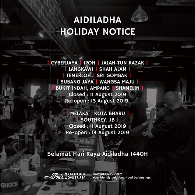 Aidil Adha Holiday Notice SWIPE ➡️