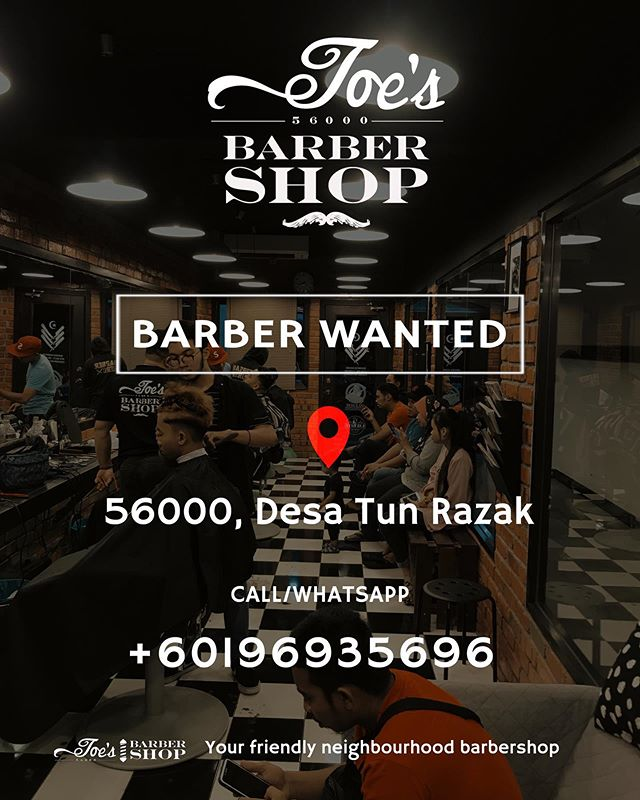 Joe's Barbershop Desa Tun Razak #barberwanted