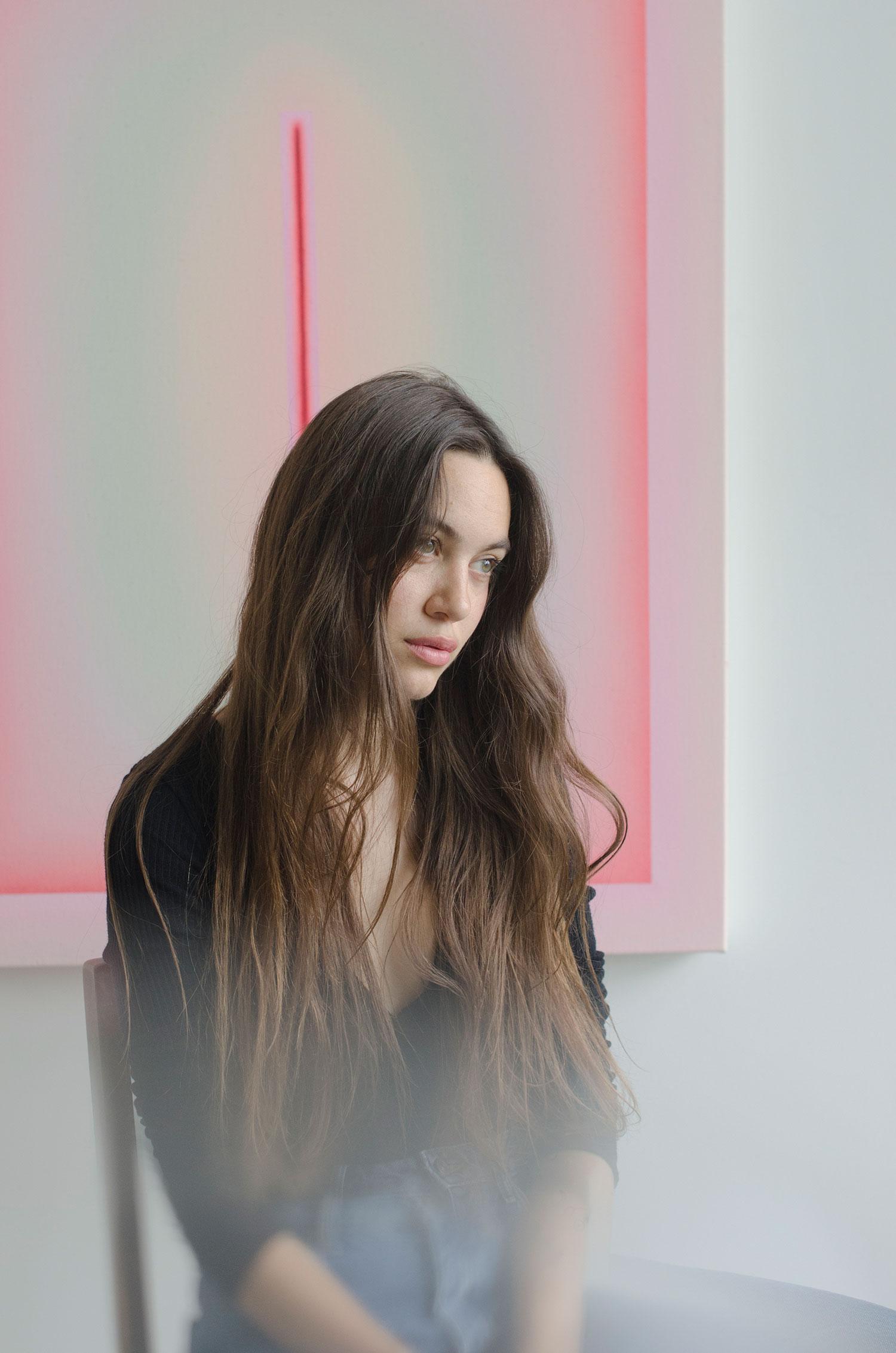 Alina Birkner in her studio, photo by Jane Baehren