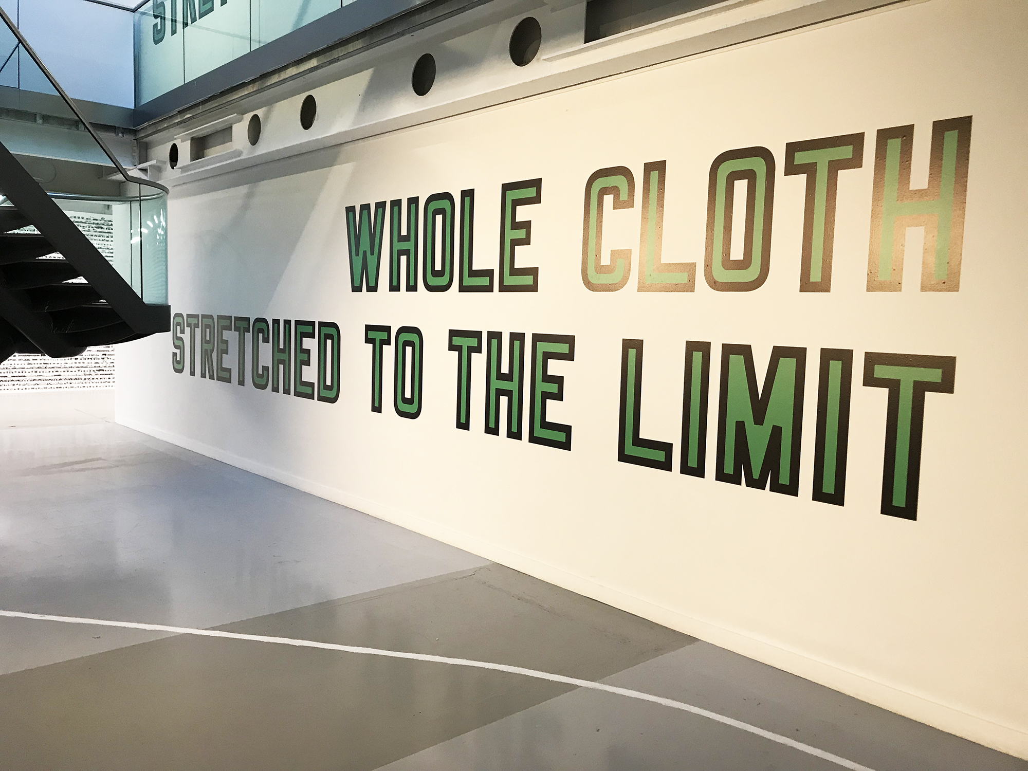 Lawrence Weiner:Whole Cloth Stretched To The Limit, 2013
