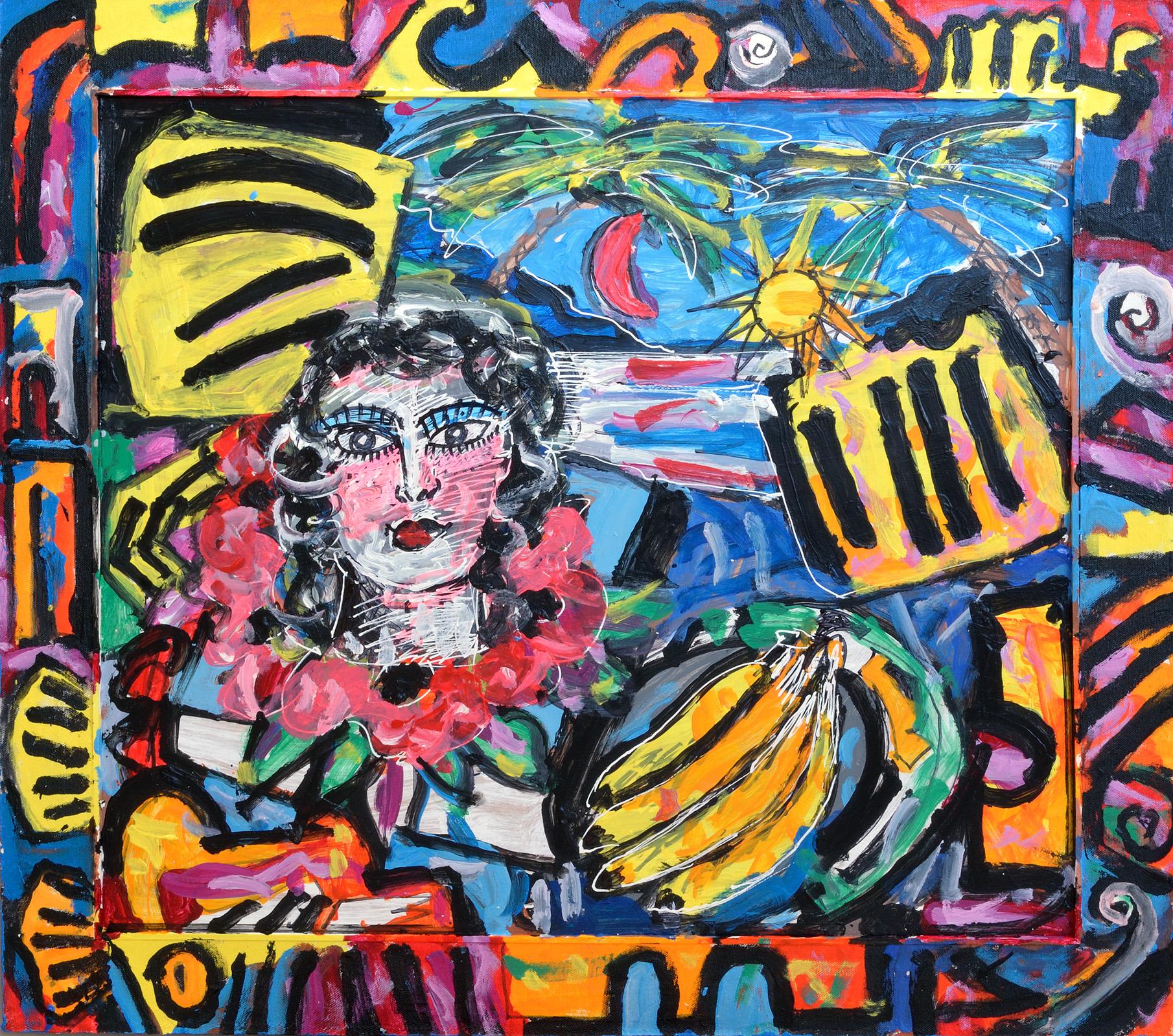 Stilleben 25, 2016. Acryl-Latex-Farbenauf Pavatex, 74 x 83cm