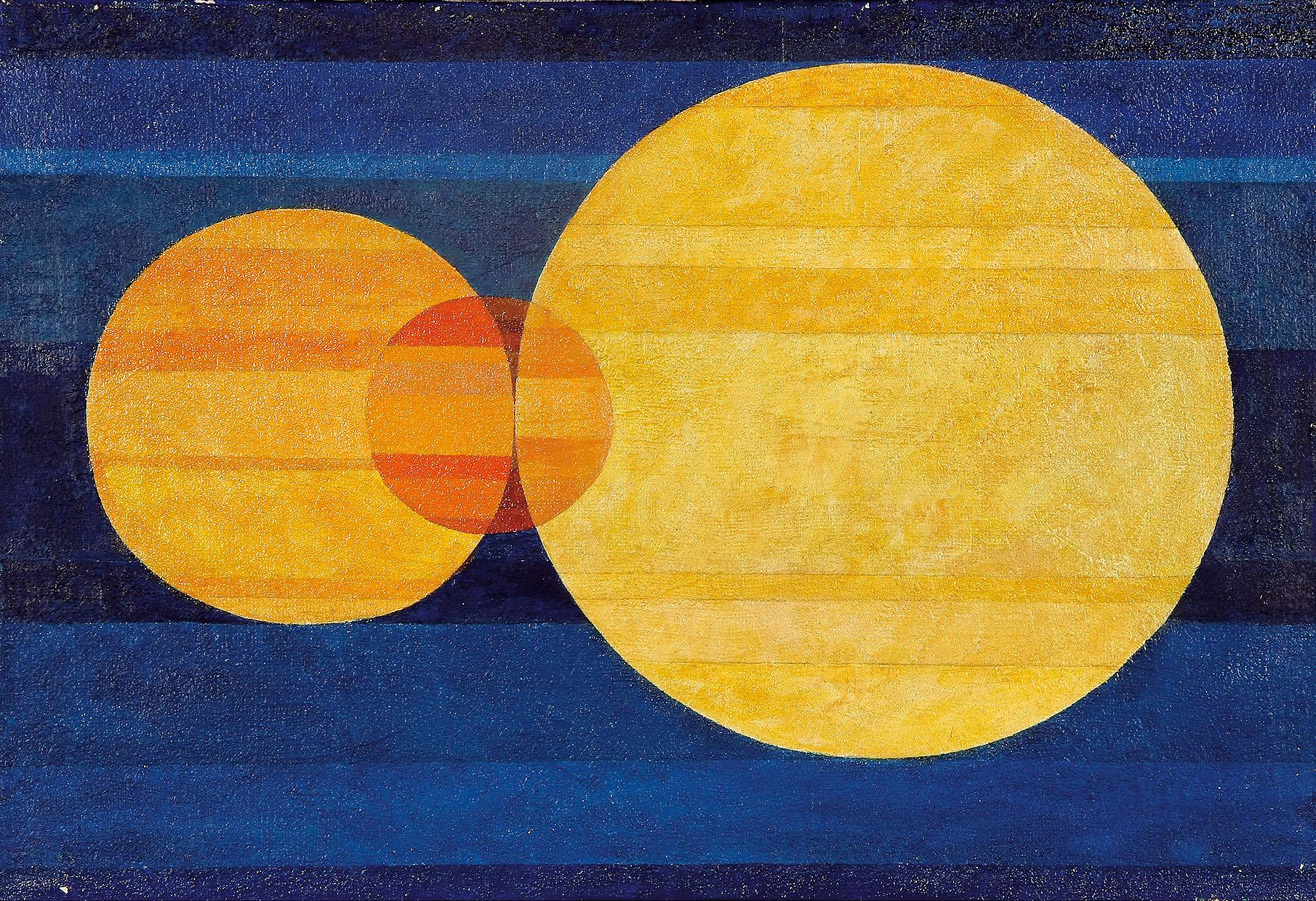 Komposition, 1964. Öl auf Leinwand. 38 x 55cm