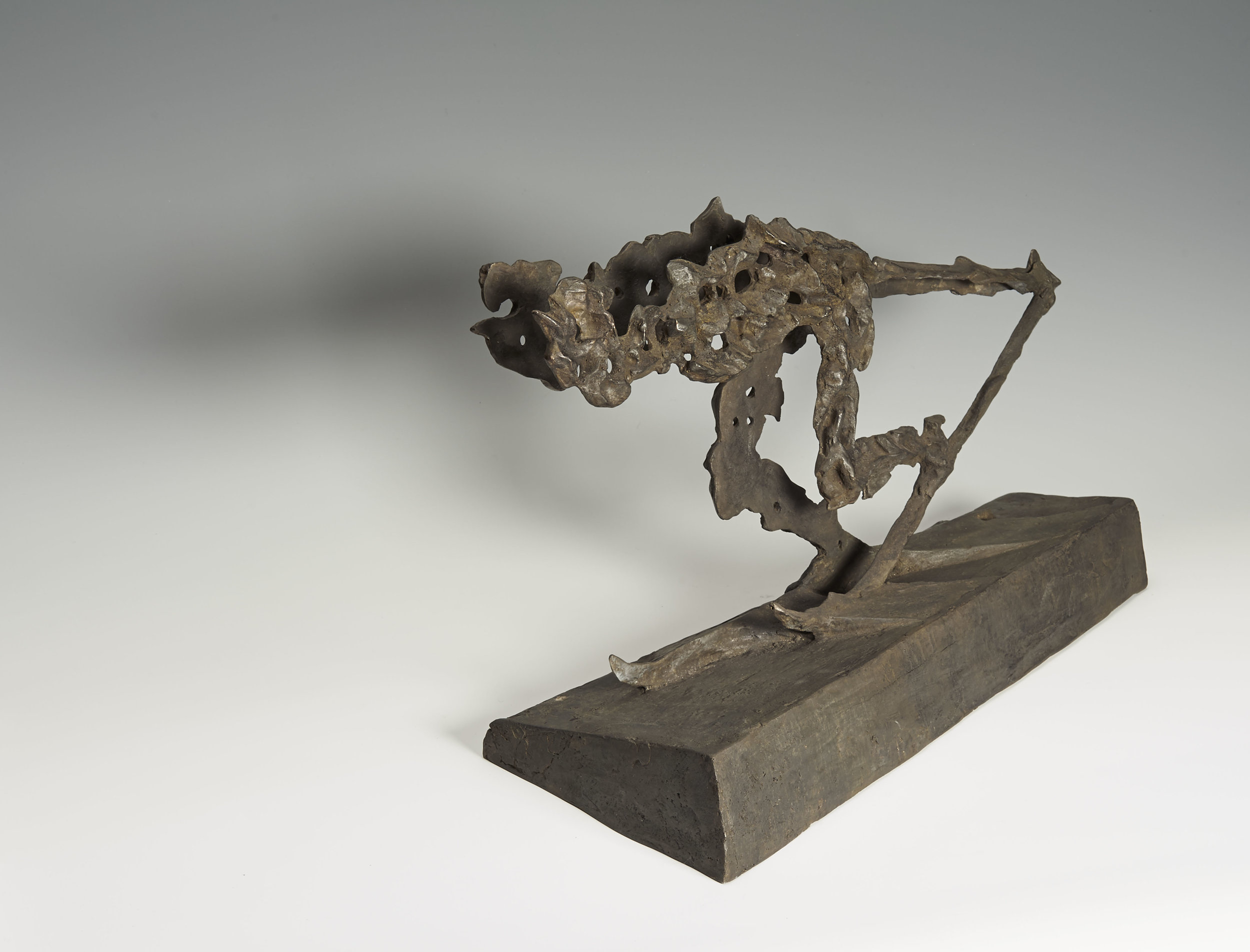 Wille und Widerstand, (il sclev dal sport), 2005. Bronze. H 30; L 50