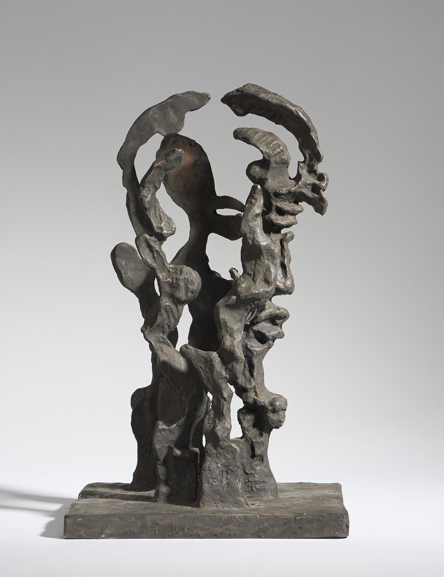 Fünf mal Licht und fünf mal Schatten (transparenter Männerkopf), 2010. Bronze. H 43cm