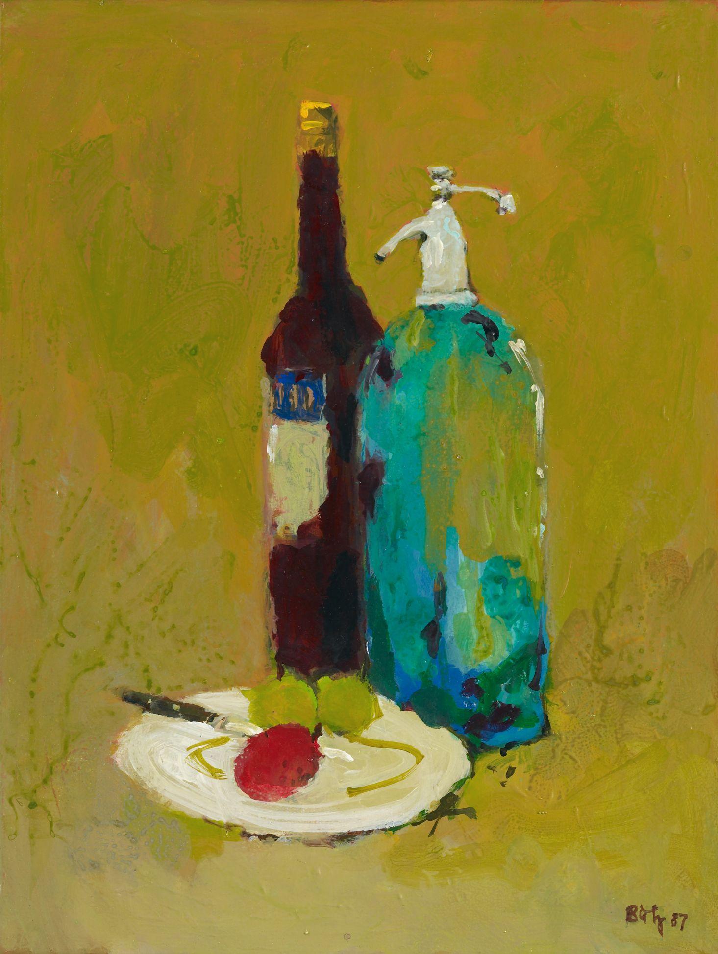 Apéro, 1987. Öl auf Leinwand