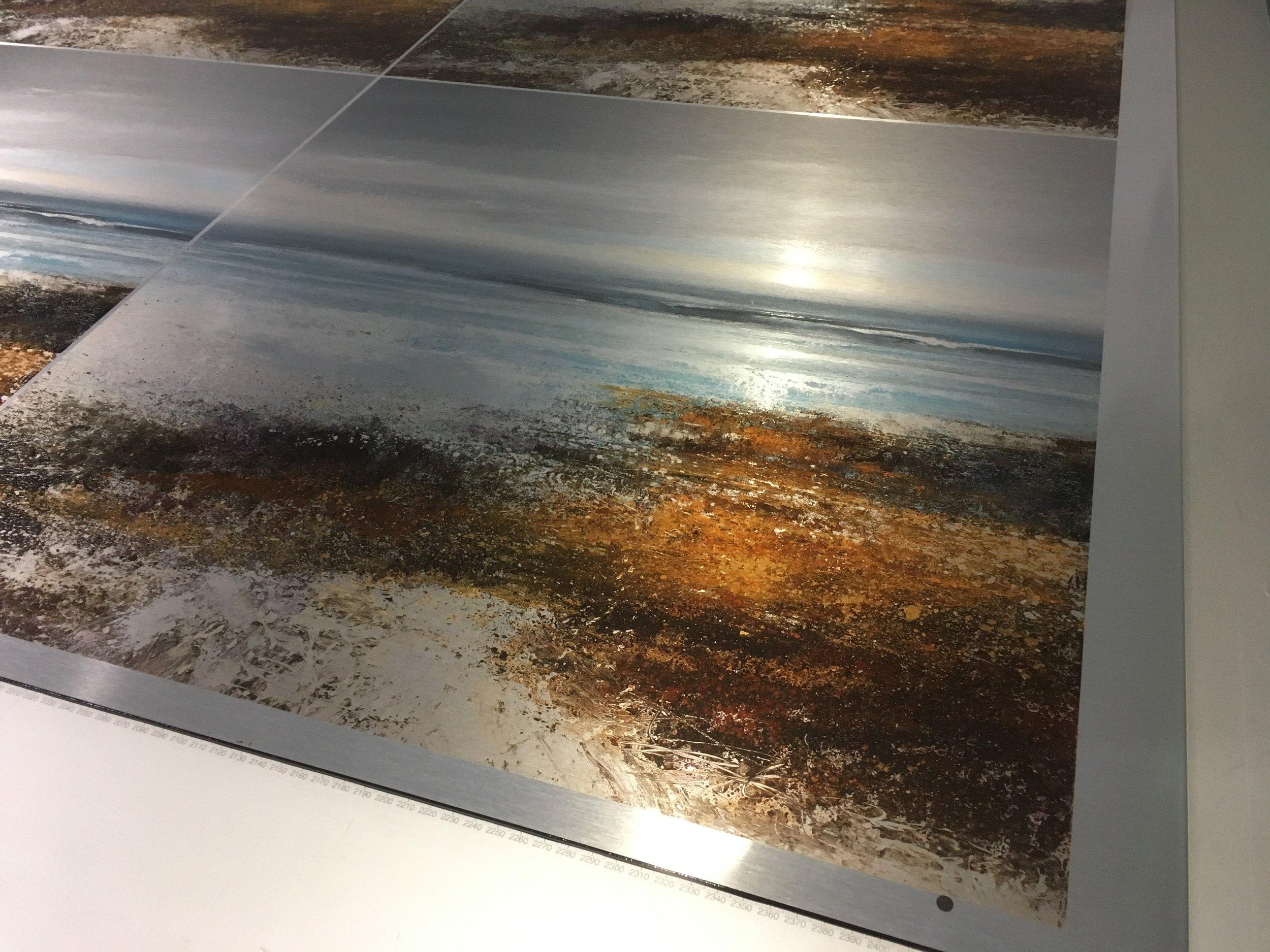Fine Art Print on Brushed Alumimum