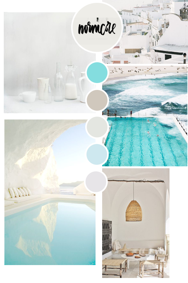 The mood board I created earlier. Now I am working on my logo and submarkets. #moodboard #turquoise #designer #graphicdesign #summervibes