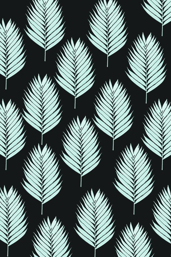 downloadable palm leaf wallpaper black background #pattern #design #graphicdesign #phonebackground #phylleli