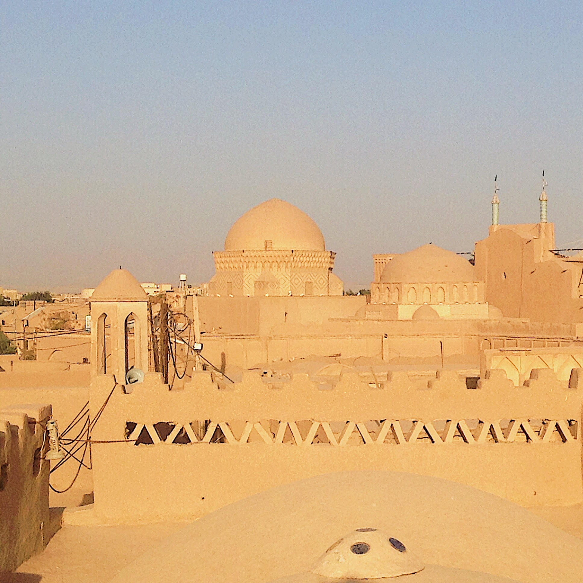 Over the roofs of Yazd
