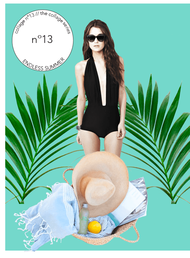 Collage No. 13 // Endless Summer, The Collage Series by Phylleli #design #graphicdesign #branding #onlinebranding #magazinestyle #editorialdesign #logodesign #design #summer #endlesssummer #collage #thecollageseries #phylleli