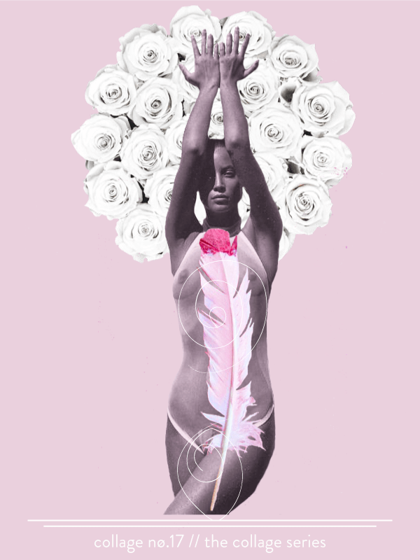 Collage No. 17 // The Collage Series by Phylleli #design #graphicdesign #magazinestyle #artdirection #softtones #editorialdesign #designblog #freelancedesigner #artdirection #layout #posterdesign #minimalism