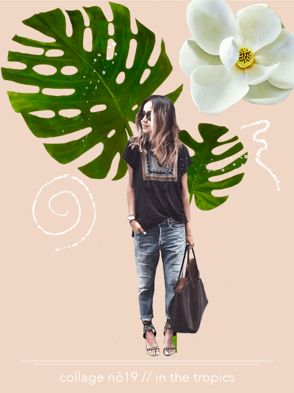 Collage No. 19 // The Collage Series by Phylleli #inthetropics #tropical #artdirection #botanicals #editorialdesign #creativity #fashion #magazinestyle #design #designer #freelancedesigner #graphicdesign #graphicdesigner #phyllei #onlinebusiness