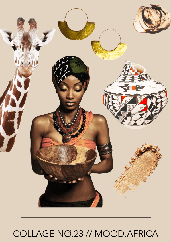 Collage No. 23 // Mood:Africa #design #graphicdesign #collage #thecollageseries #moodboard #typography #layout #editorialdesign #artdirection #graphicdesign #graphicdesigner #freelancedesigner #freelancer #branddesigner #brandstylist #designblog