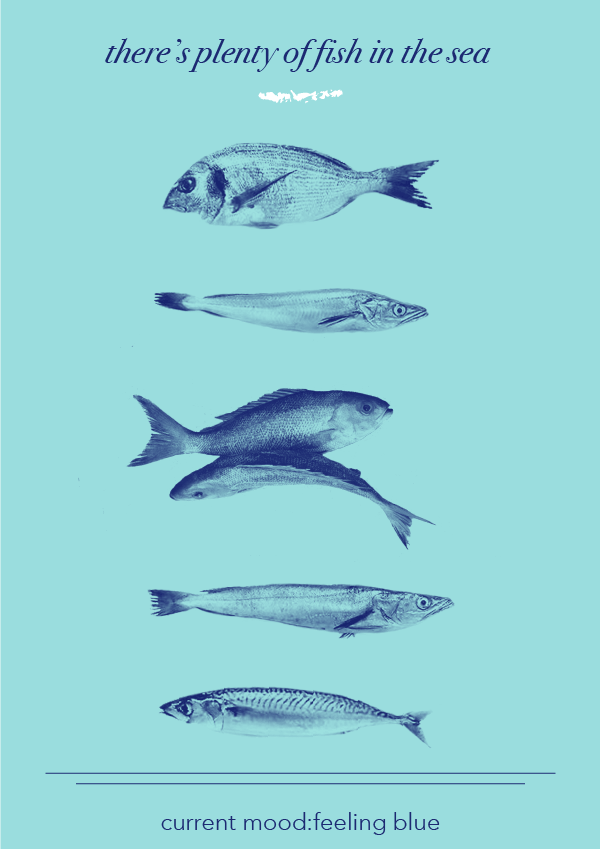 There's Plenty of Fish in the Sea // by Phylleli #design #graphicdesign #posterdesign #editorialdesign #artdirection #designblog #graphicdesigner #designer #fish #nauticaldesign #inspiredbythesea