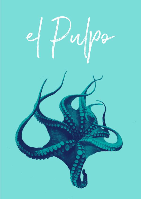 El Pulpo #design #inspiredbythesea #graphicdesign #freelancer #selfemployed #typography #minimalism #octopus #pulpo #design