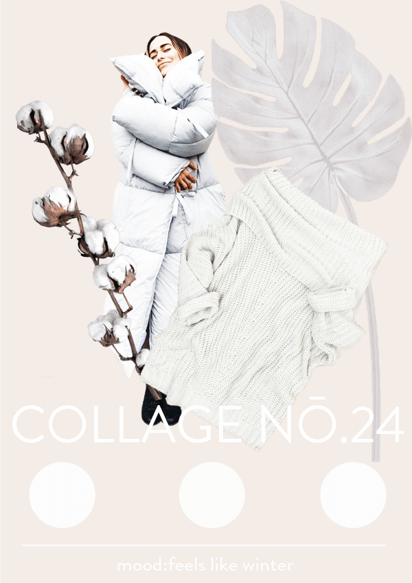 Collage No. 24 // Feels like Winter #collage #thecollageseries #softtones #moodboard #winter #wintercollage #wintercolors #typography #artdirection #editorialdesign #designblog #stayinginspired #blogger #winterfeeling