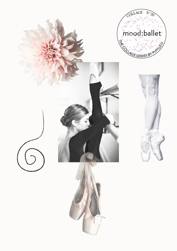 Collage No. 30 // mood:ballet by phylleli #design #graphicdesign #logo #branding #moodboard #collage #thecollageseries #femininedesign #ballet #balletcollage #pointeshoes #editorialdesign #fashionmagazine #artdirection #phylleli #designblog
