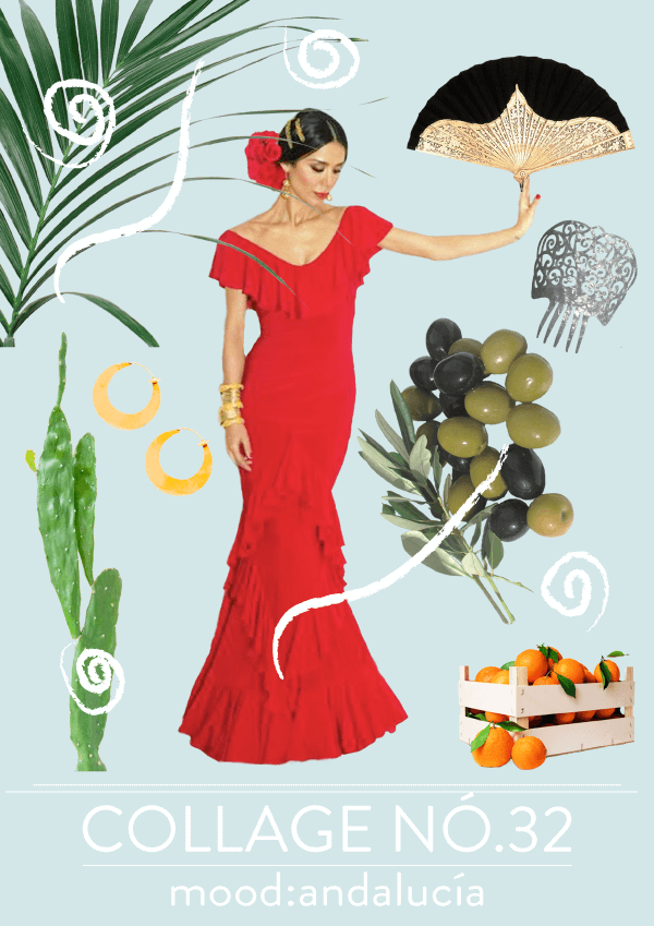 Collage No. 32 by Phylleli // Mood:Andalucía #collage #thecollageseries #designblog #graphicdesigner #freelancer #freelancedesigner #spain #typography #phylleli