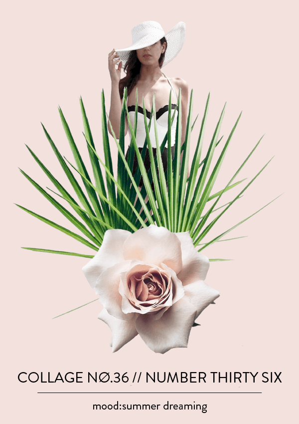 Collage NO. 36 // dreaming of summer #collage #thecollageseries #summervibes #typography #layout #design #designblog #graphicdesign #graphicdesigner #editorialdesign #artdirection #collage #summer