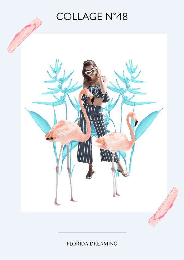 Collage No. 48 // Florida Dreaming #collage #thecollageseries #vintage #florida #design #designer #editorialdesign #branding #identitydesign #designblog #artdirection #freelancer #graphicdesign #graphicdesignerin #digitalnomad