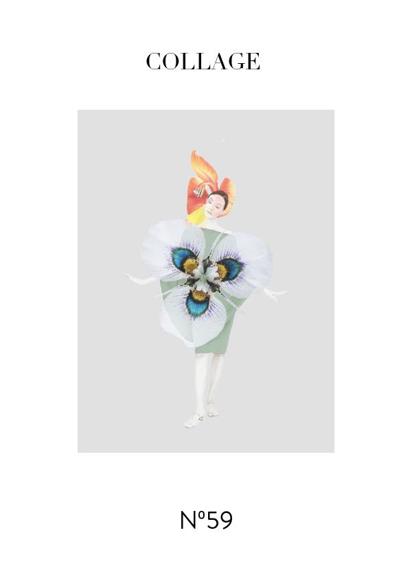 Collage No. 59 #design #graphicdesign #minimalism #editorialdesign #flowers #artdirection #typography