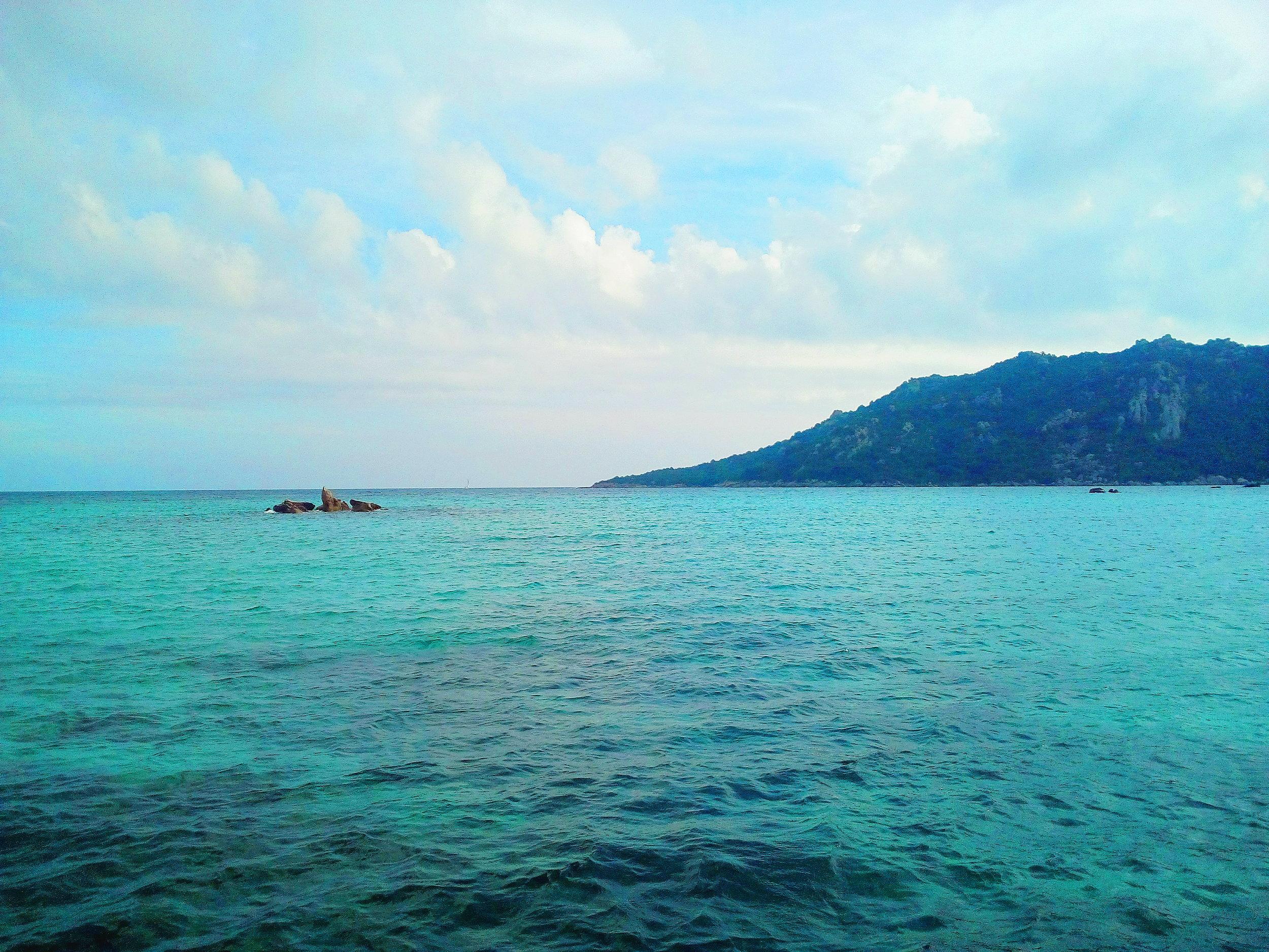 Santa Giulia Beach in Corsica
