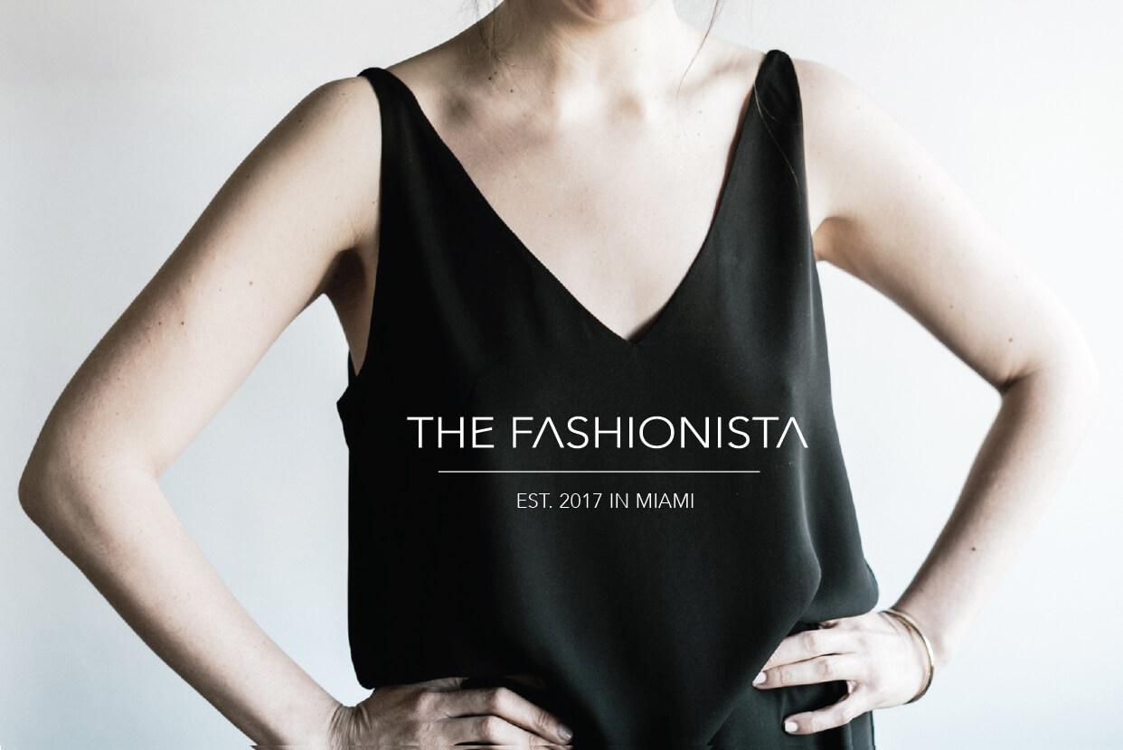 The Fashionista // Est. in Miami in 2017 #branding #designblog #logodesign #fashion