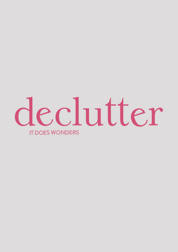 Declutter // The Logo Series by Phylleli #design #graphicdesign #designblog #minimalism #decluttering #typography #branding #designer