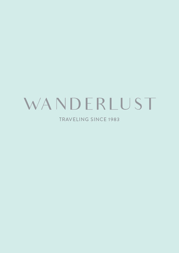 wanderlust // the logo series by phylleli #design #graphicdesign #typography #wanderlust #traveling #minimalism #branding #onlinebranding #visualidentity