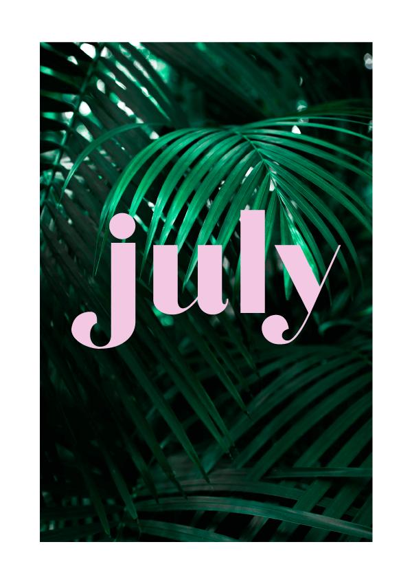 July // typographic exploration (Phylleli) #typography #design #graphicdesign #palmtrees
