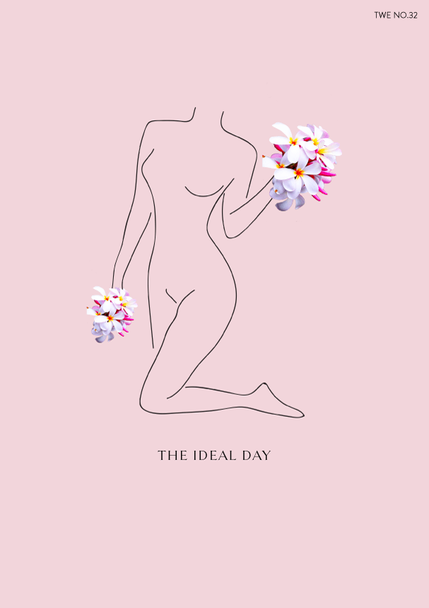 TWE NO.32 // The Ideal Day (Phylleli) #design #graphicdesign #designblog #manifesting #illustration #lineart #mentalhealth #selfcare #selflove