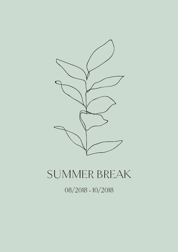 Phylleli design studio is on a Summer break from 08/2018 - 10/2018. New bookings from mid October on!