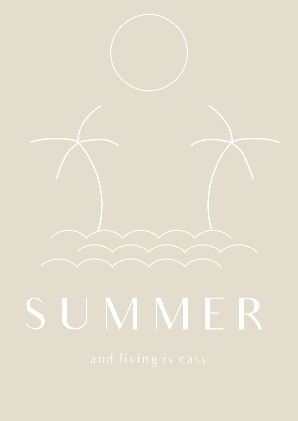 summer....and living is easy (phylleli) #design #graphicdesign #typography #lineart #minimalism #summer #summervibes #designblog
